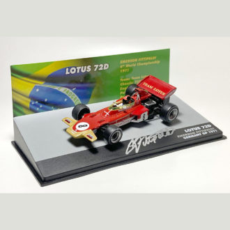 Product image for Emerson Fittipaldi signed 1/43 Lotus 72D