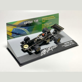 Product image for Emerson Fittipaldi signed 1/43 Lotus 72E