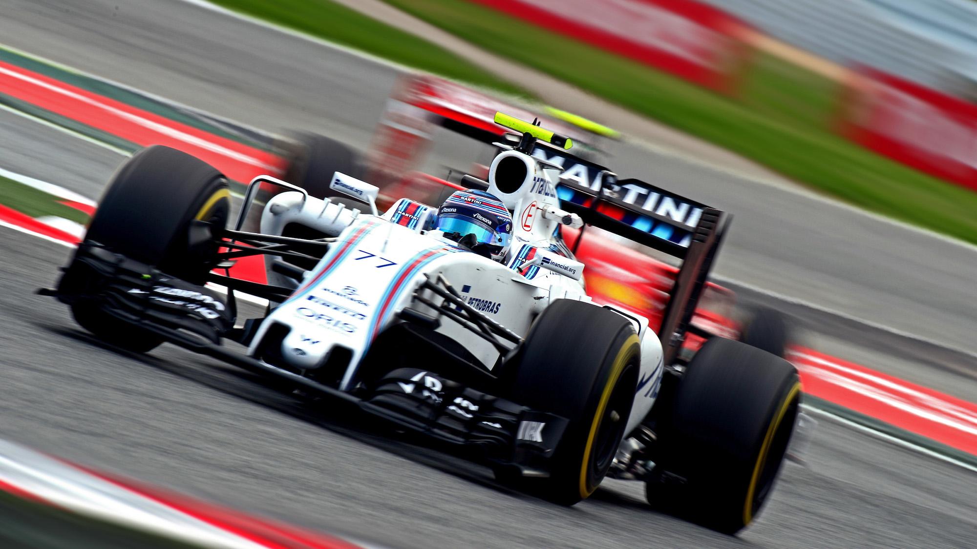 Williams of Valtteri Bottas at the 2016 Spanish GP
