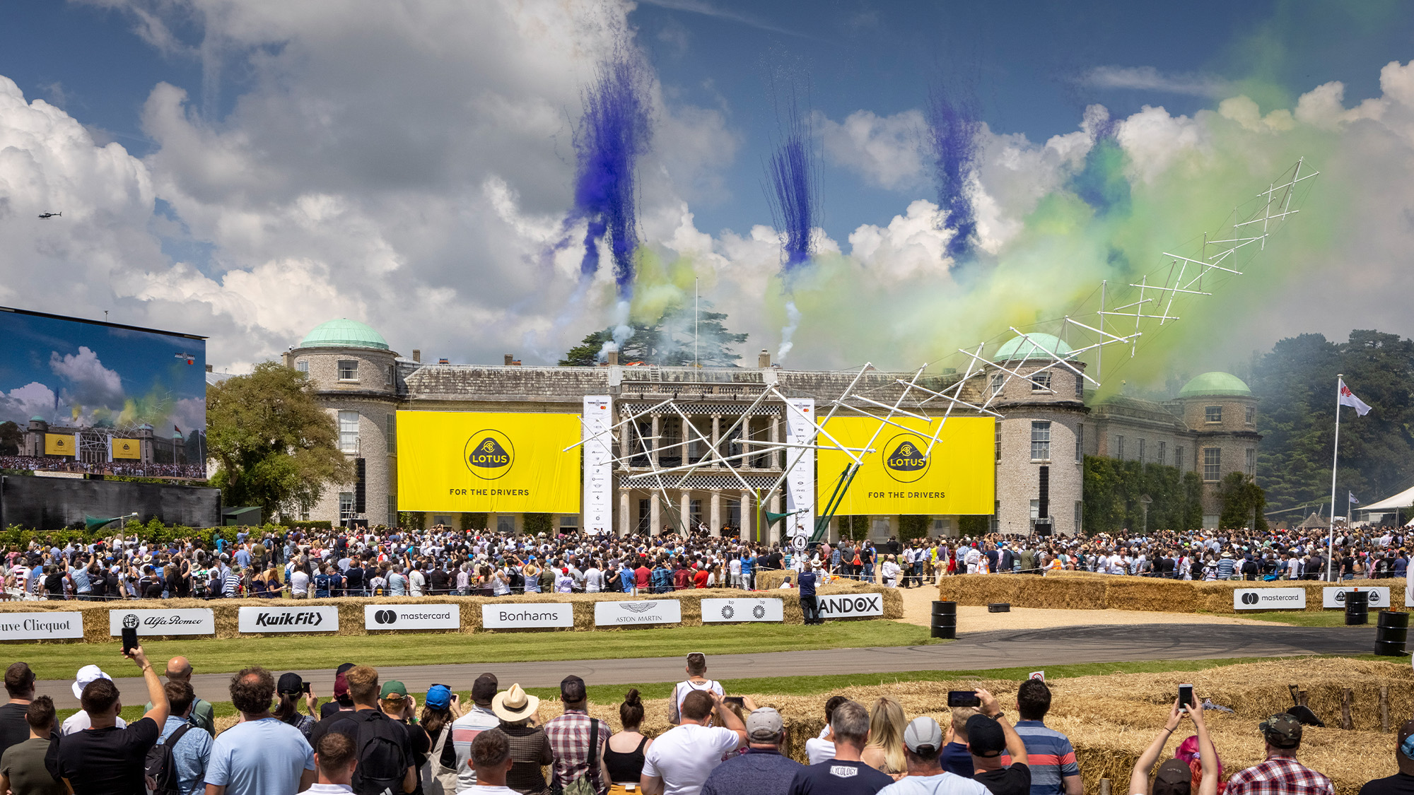 Fireworks at 2021 Goodwood Festival of Speed
