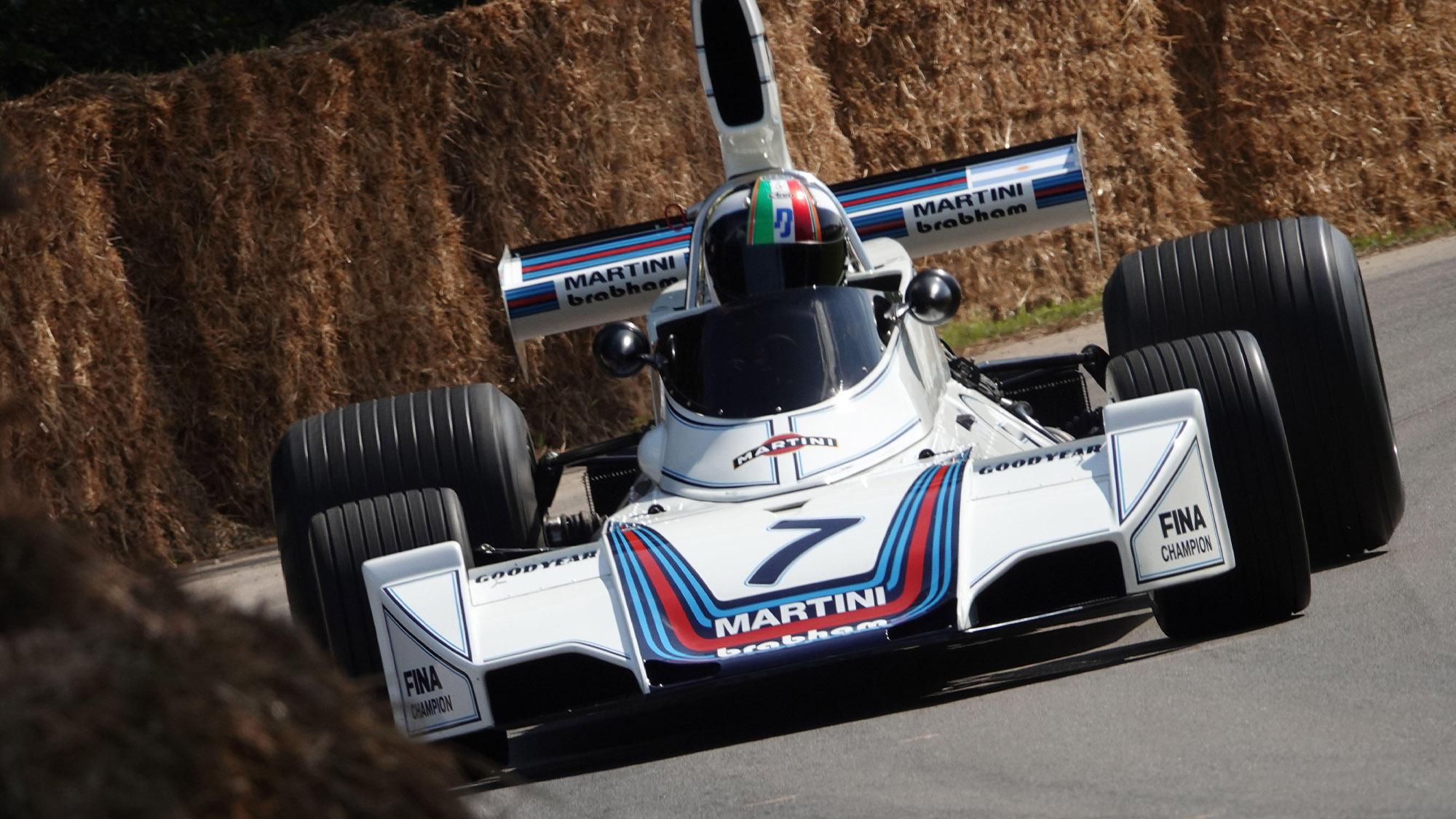 Marino Franchitti drives the 1975 Brbham BT44B at Goodwood Festival of Speed