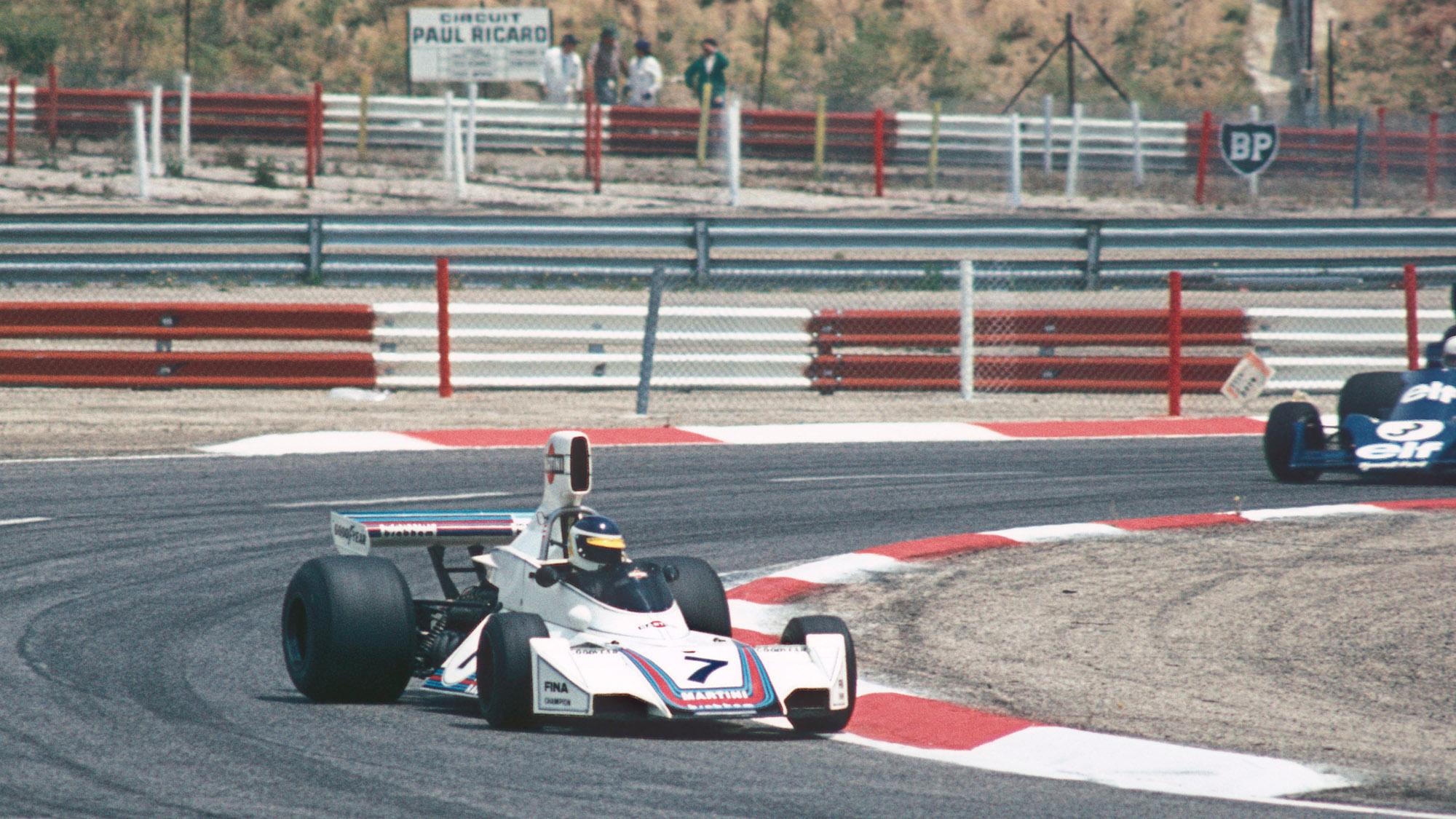 Brabham BT44B of Carlos Reutemann at Paul Ricard in 1975