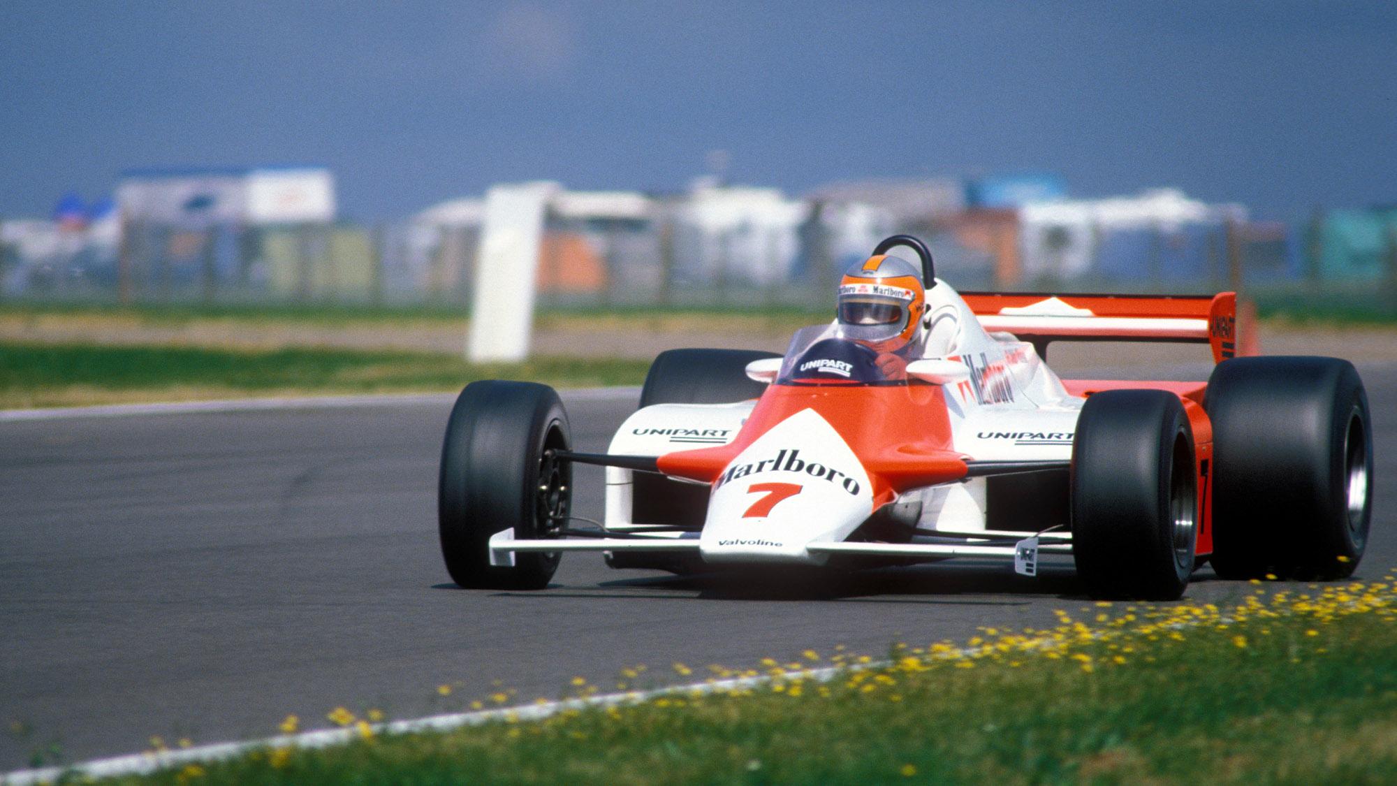 John Watson at the 1981 British Grand Prix