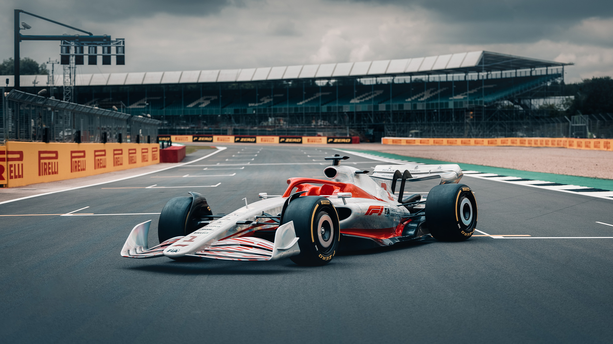 2022 F1 car model at Silverstone