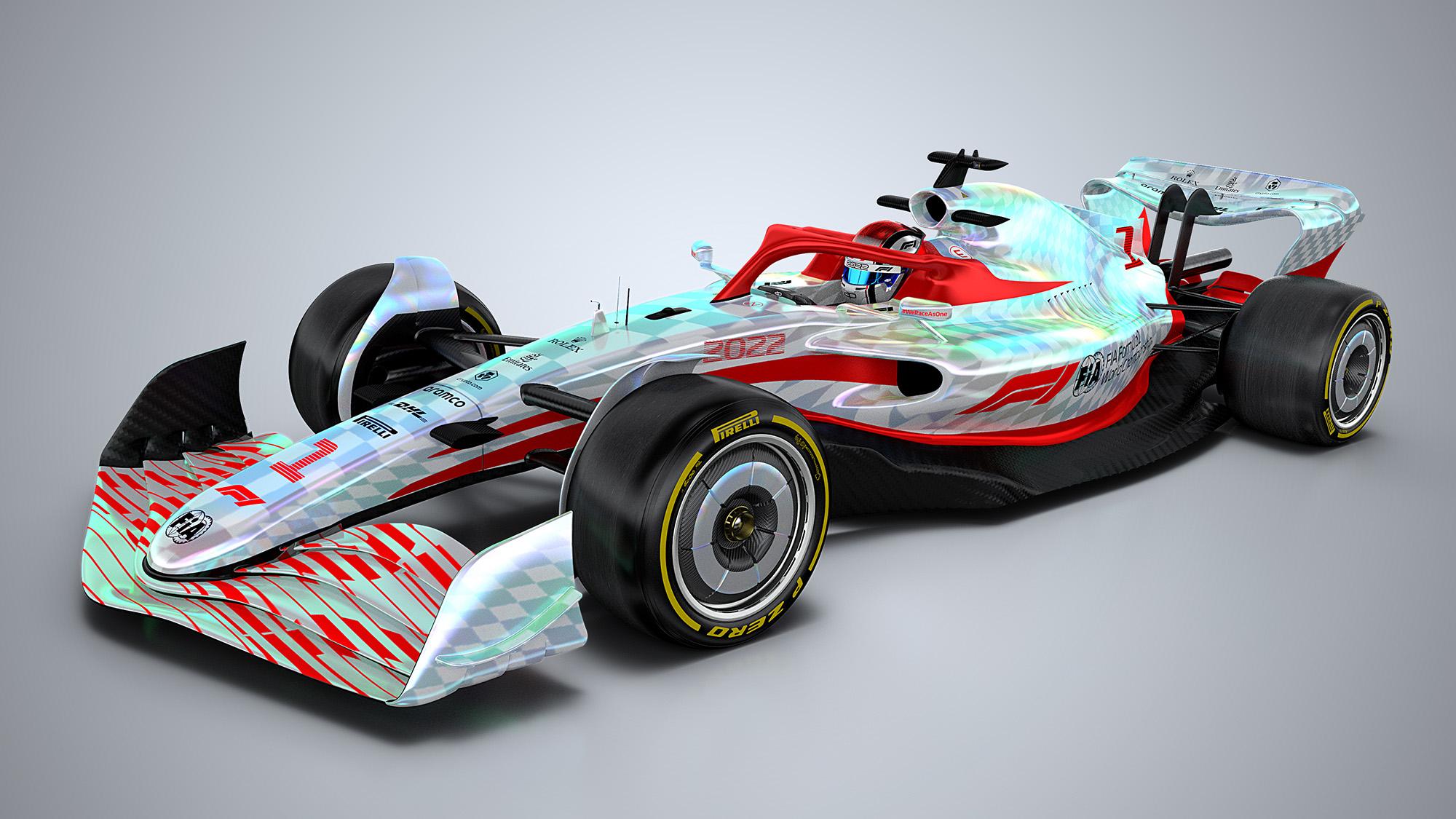 F1 2022 car render ftq