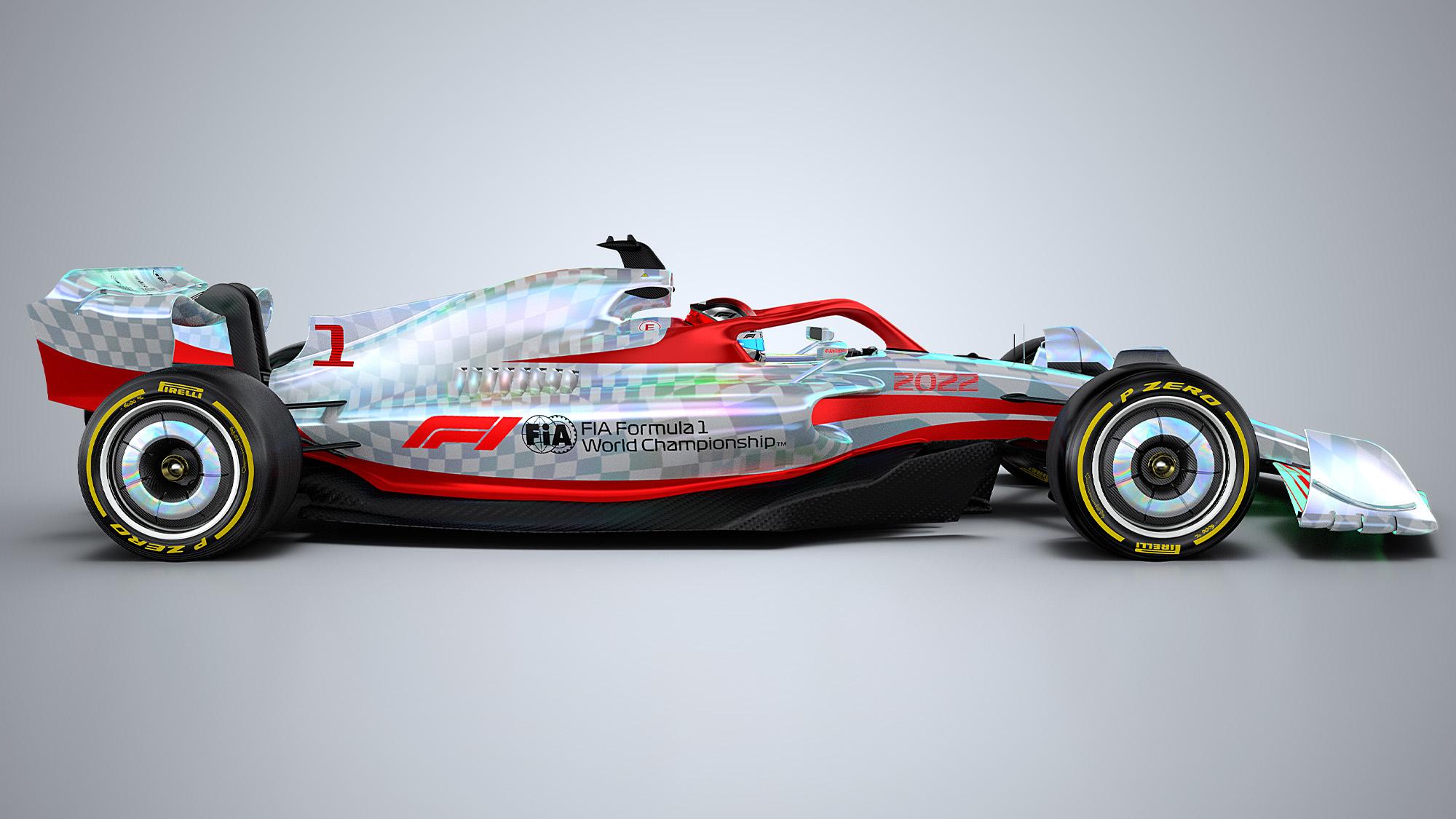 F1 2022 car render side