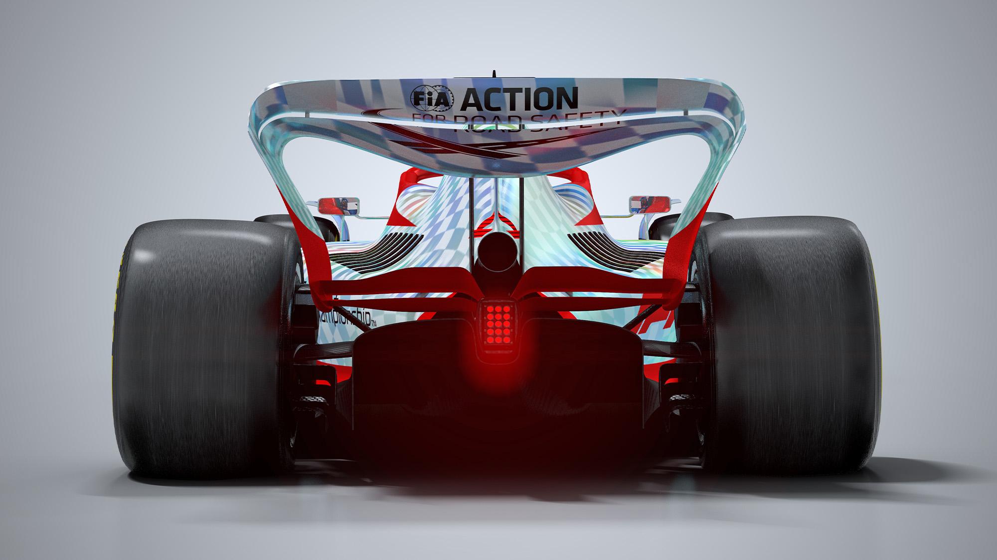 F1 2022 car render rear