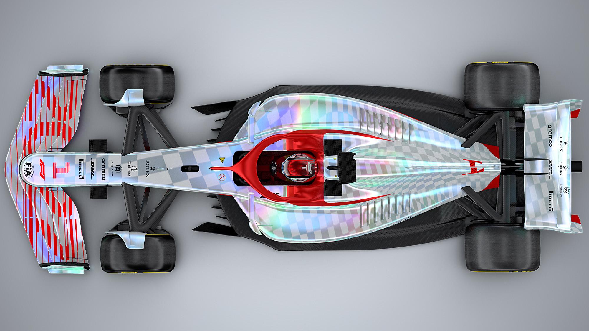 F1 2022 car render top
