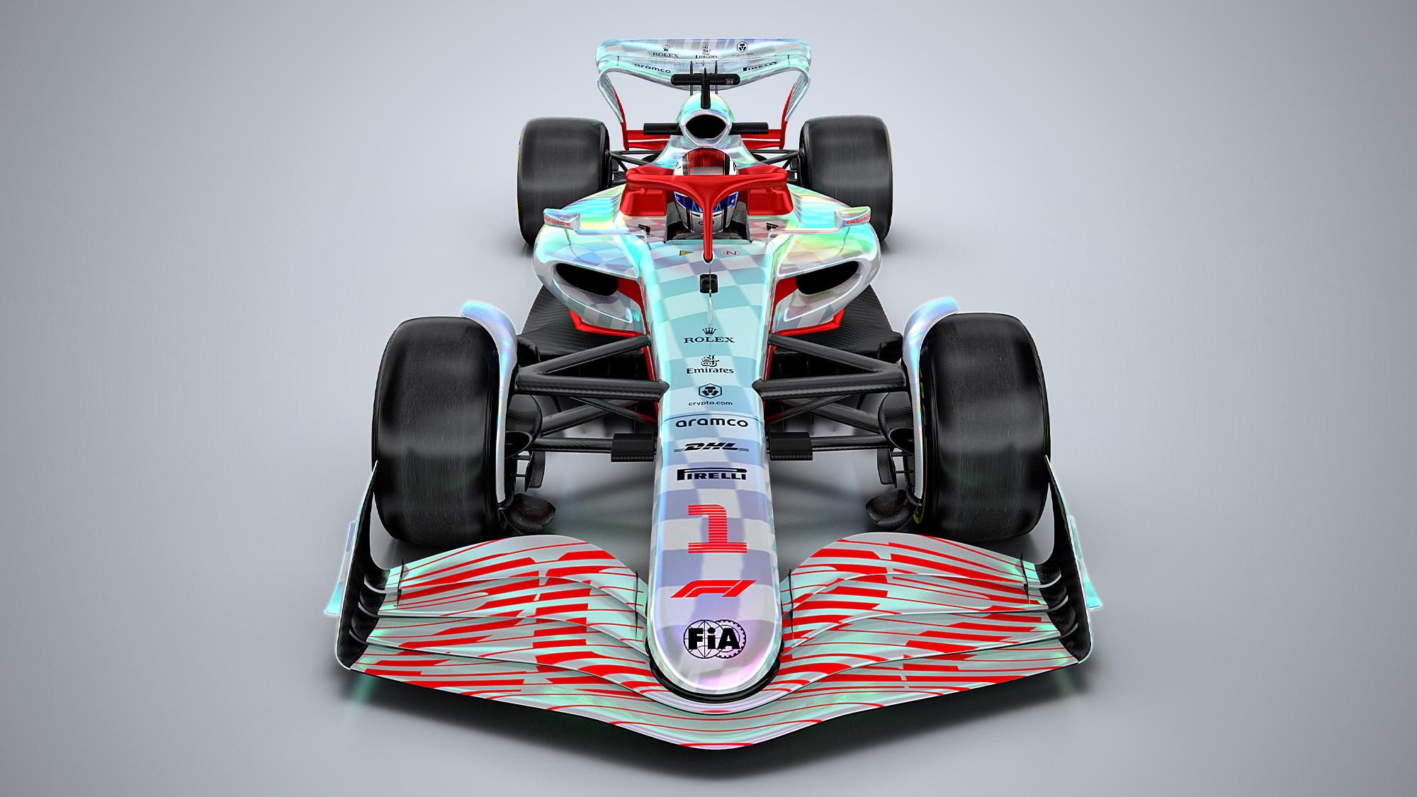F1 2022 car render overhead