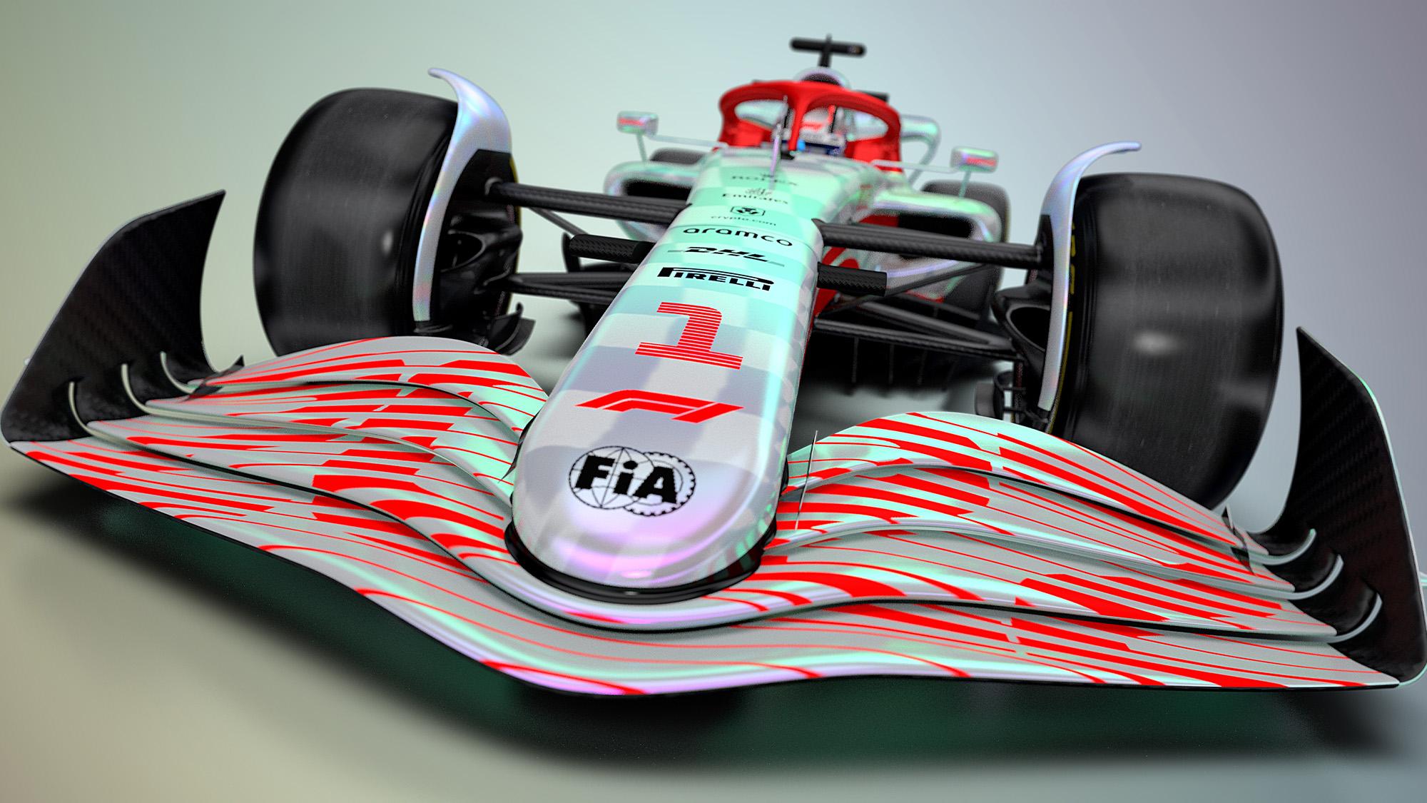 F1 2022 car render front