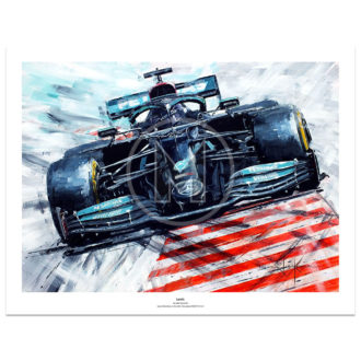Product image for Lewis Hamilton | Mercedes-AMG F1 | John Ketchell | Limited Edition Print
