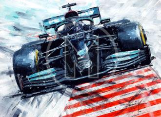Product image for Lewis Hamilton | Mercedes-AMG F1 | John Ketchell | Original Artwork
