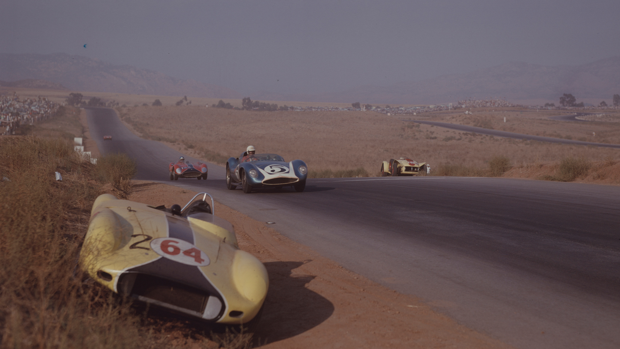 Chuck Daigh in the 1958 US Grand Prix at Riverside