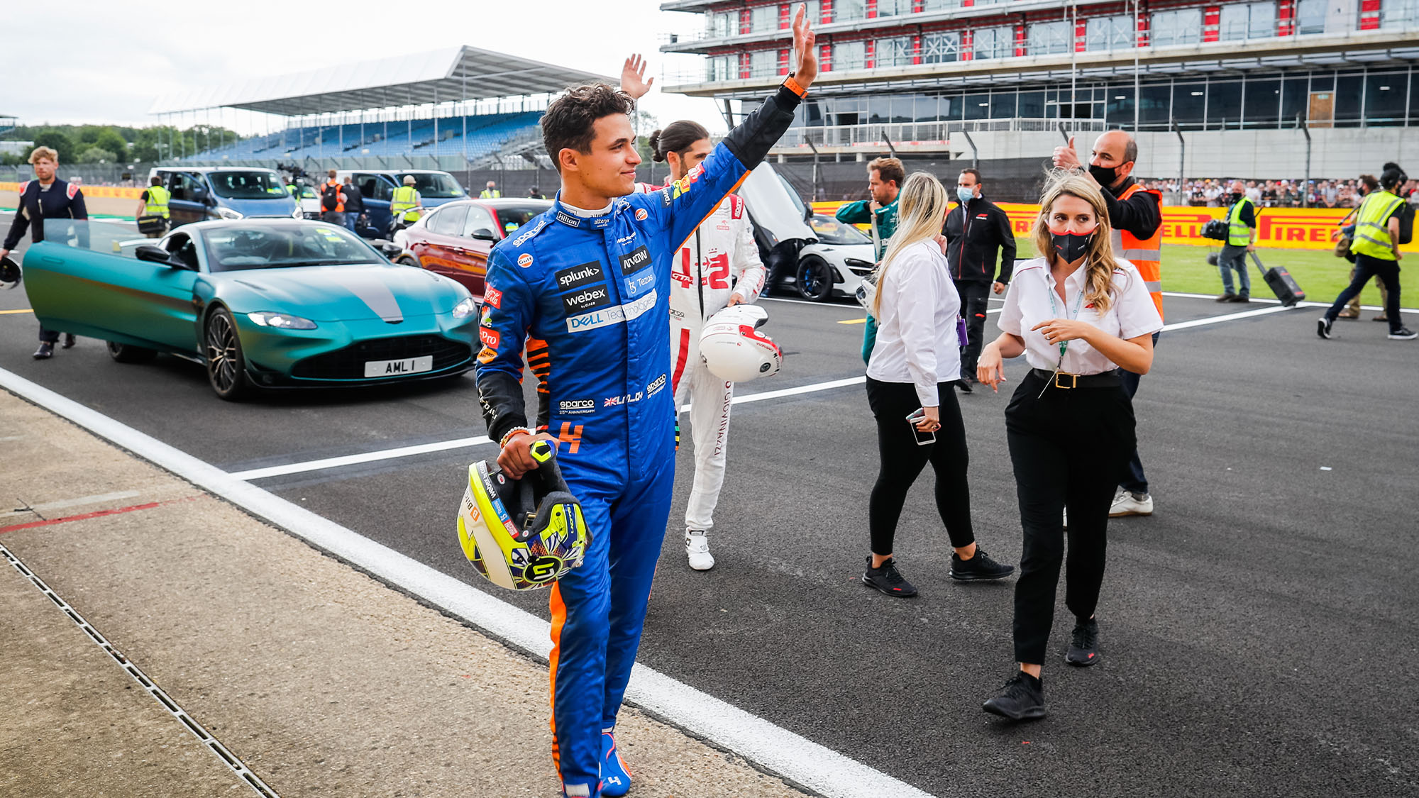 NORRIS Lando (gbr), McLaren MCL35M, portrait during the Formula 1 Pirelli British Grand Prix 2021, 10th round of the 2021 FIA Formula One World Championship from July 16 to 18, 2021 on the Silverstone Circuit, in Silverstone, United Kingdom - Photo Antonin Vincent / DPPI