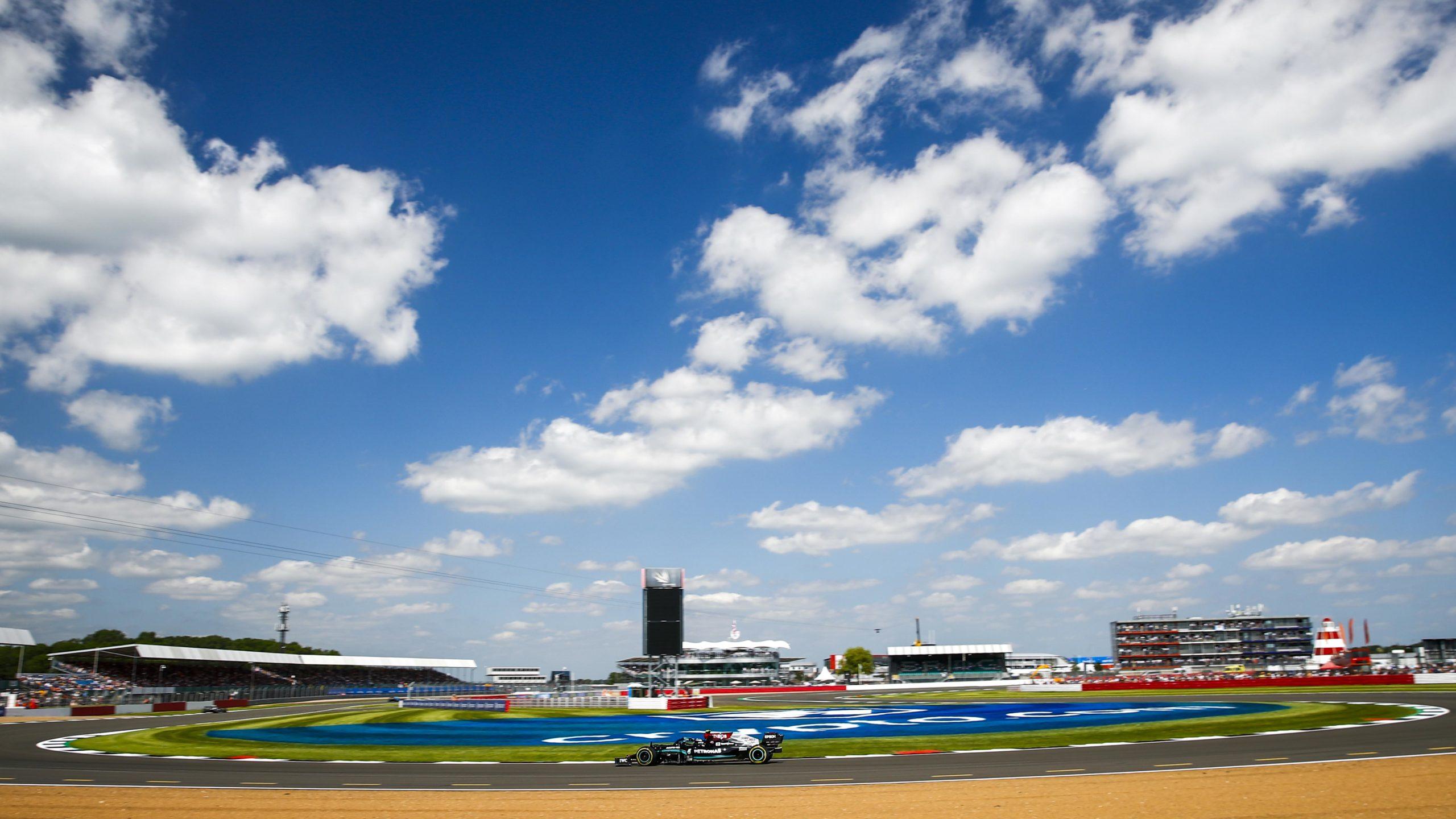 Mercedes-of-Valtteri-Bottas-in-practice-for-the-2021-British-Grand-Prix-