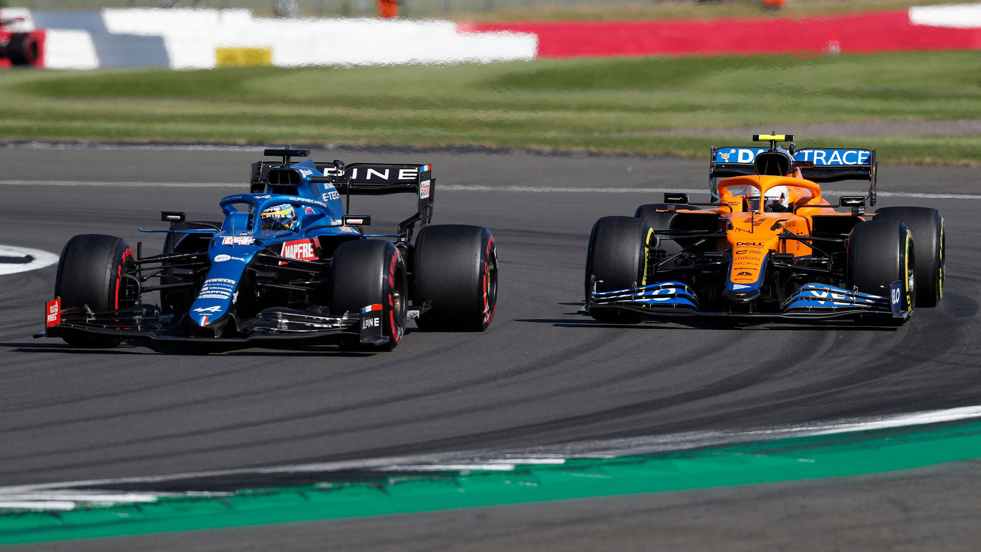 alonso norris during the 2021 British Grand Prix sprint qualifying