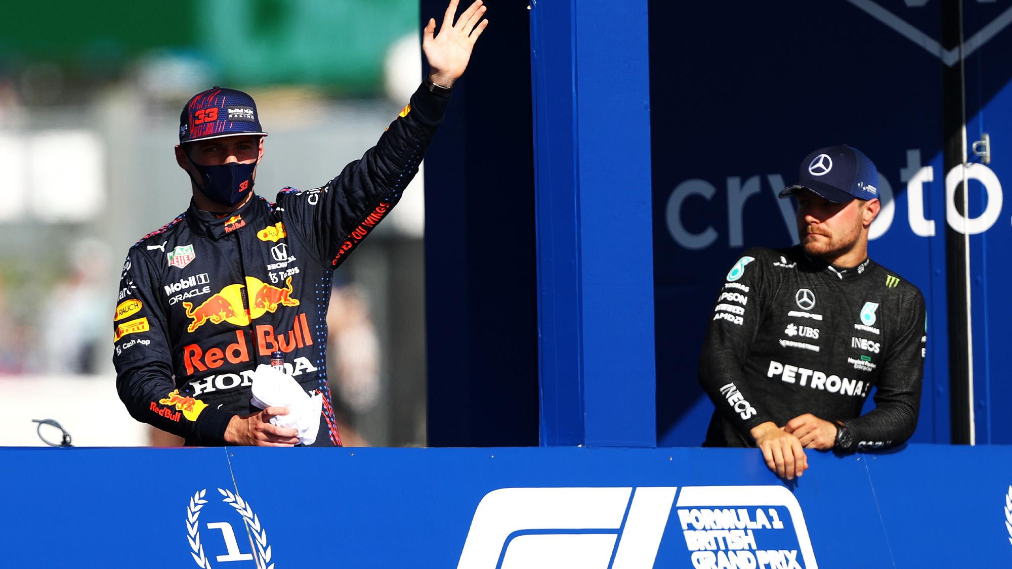 Max Verstappen after winning the first Formula 1 Sprint Qualifying race