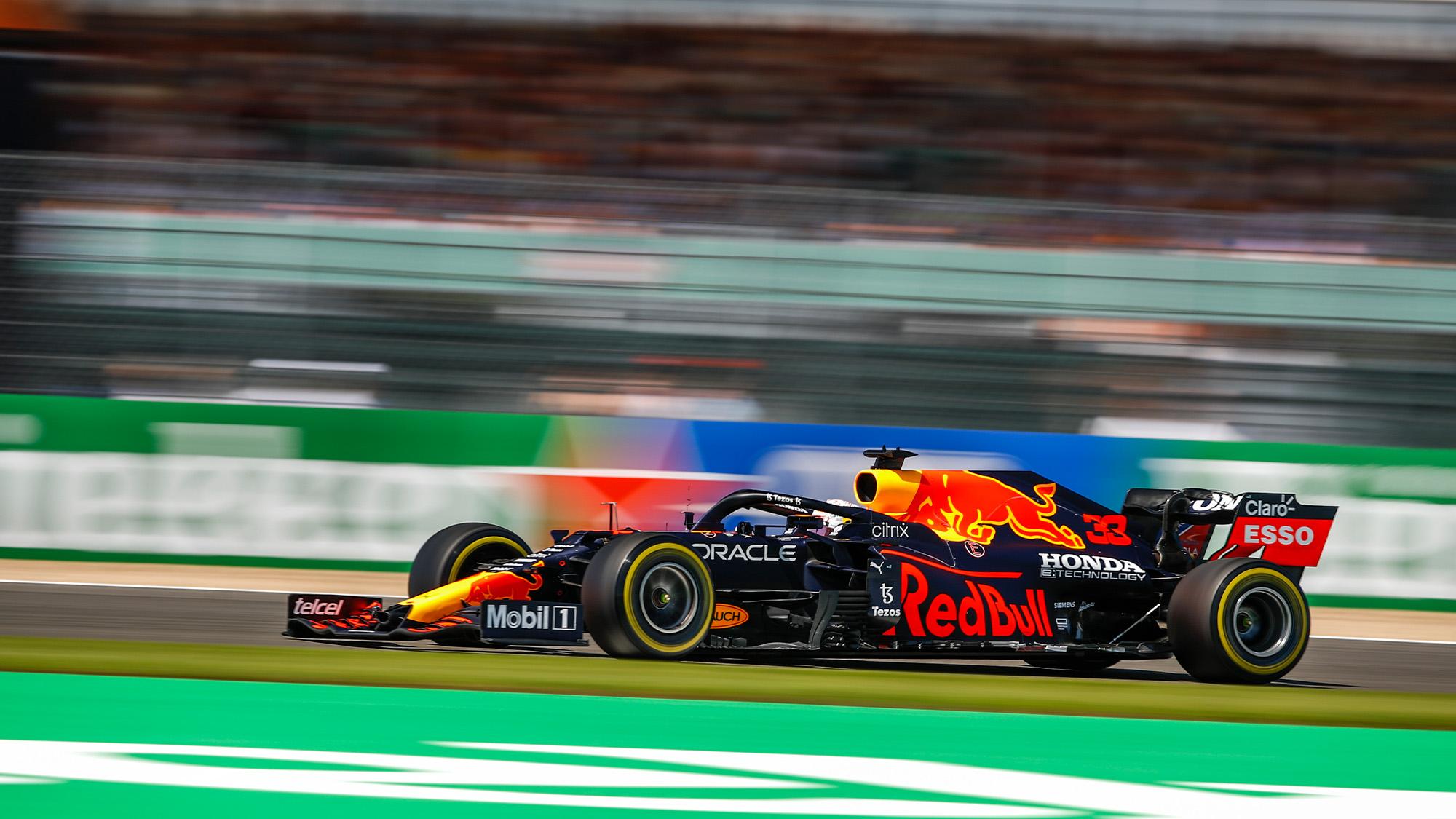 Max Verstappen in 2021 British Grand Prix sprint race
