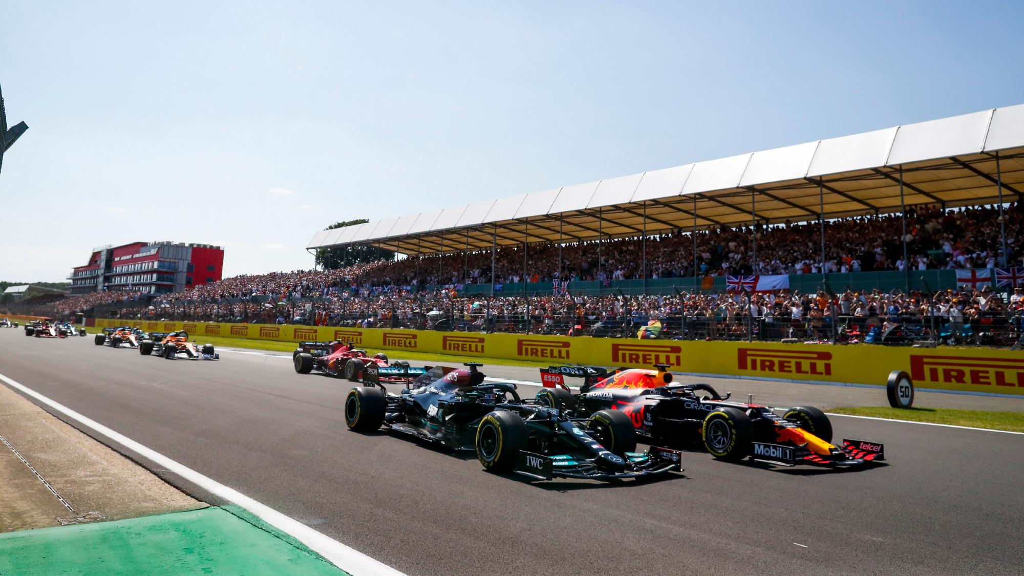Max Verstappen Lewis Hamilton British GP crash
