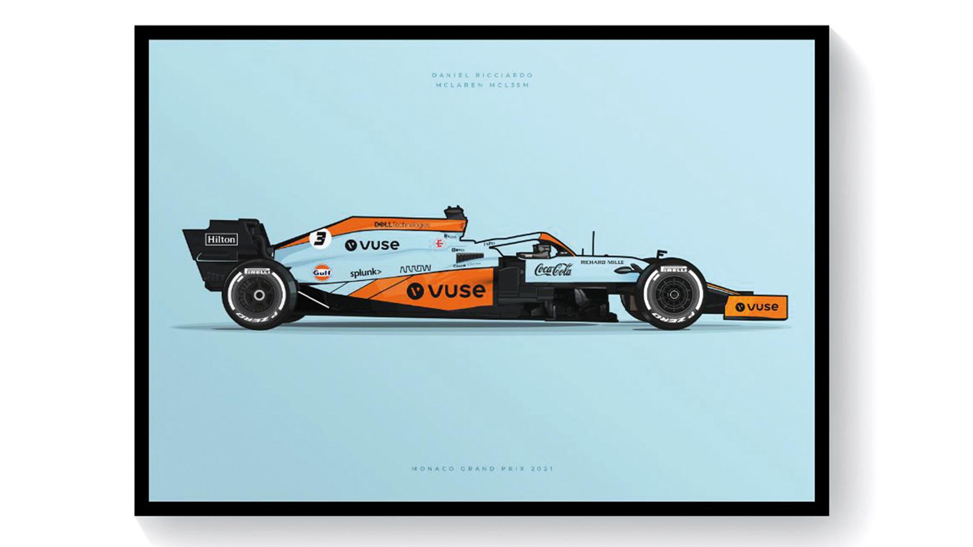 McLaren Gulf poster