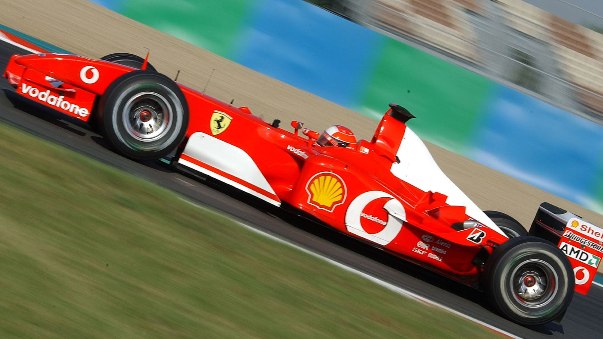 AUTO - F1 2002 - FRANCE GP - MAGNY COURS 20020721 - PHOTO: GILLES LEVENT / DPPI N¡ 1 - MICHAEL SCHUMACHER (GER) / FERRARI - ACTION # 00000795_118