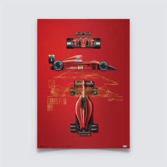 Product image for Giorgio Piola - Ferrari F1-90 - 1990 | Collector's Edition