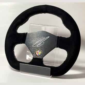 Product image for Kimi Räikkönen signed Racing style Alfa Romeo Steering Wheel
