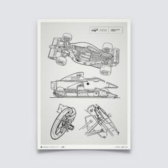 Product image for Giorgio Piola Technical Drawing - Ferrari F1-90 - 1990