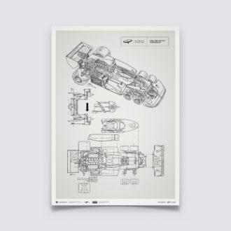 Product image for Giorgio Piola Technical Drawing - Tyrrell P34B - 1977
