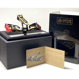 Product image for Kimi Räikkönen signed Lotus E20 nosecone by Amalgam
