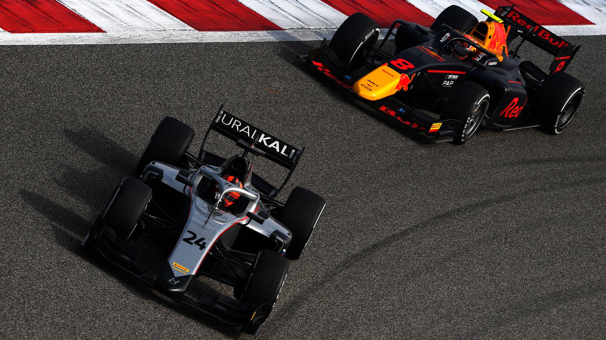 Nikita Mazepin 2020 Bahrain F2 Sprint Race