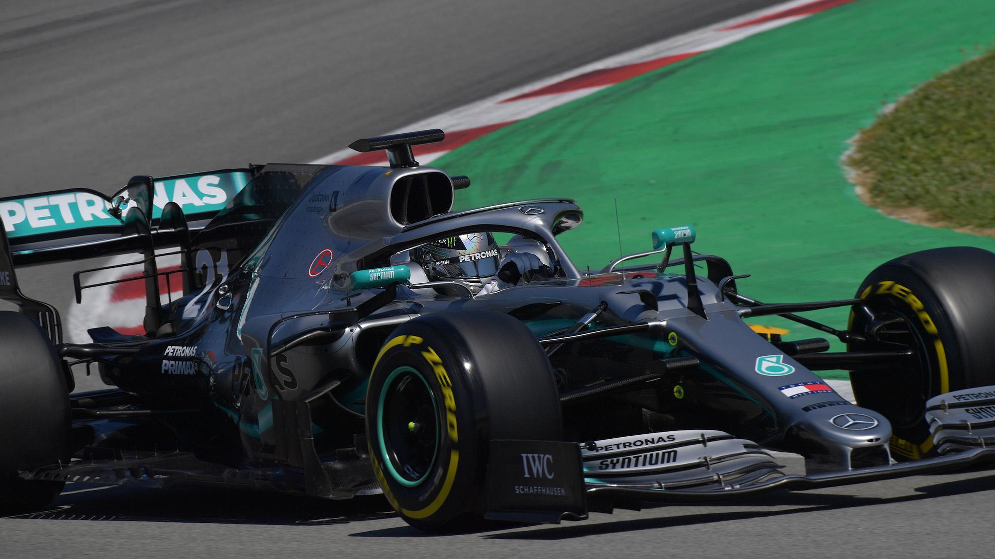 Nikita Mazepin 2019 Mercedes test
