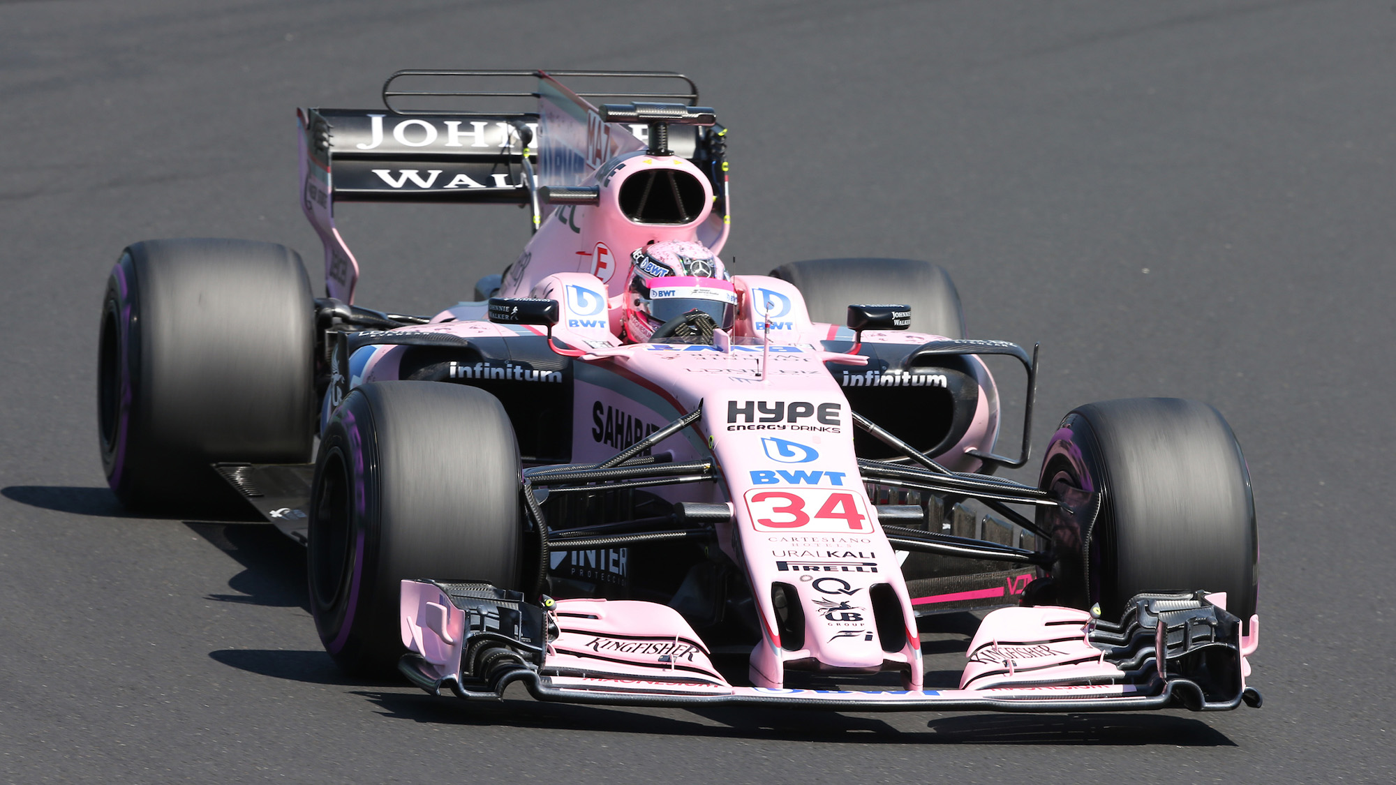 Nikita Mazepin Force India 2017 F1 test