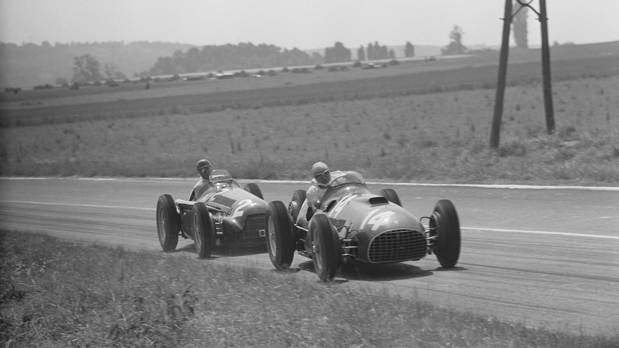 1951 French Grand Prix Gonzalez and Farina