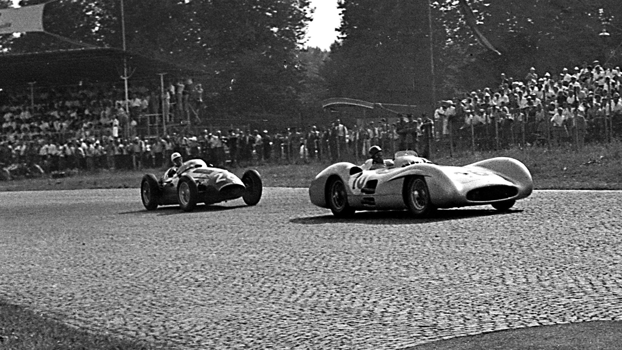 1954 Italian Grand Prix Fangio Moss