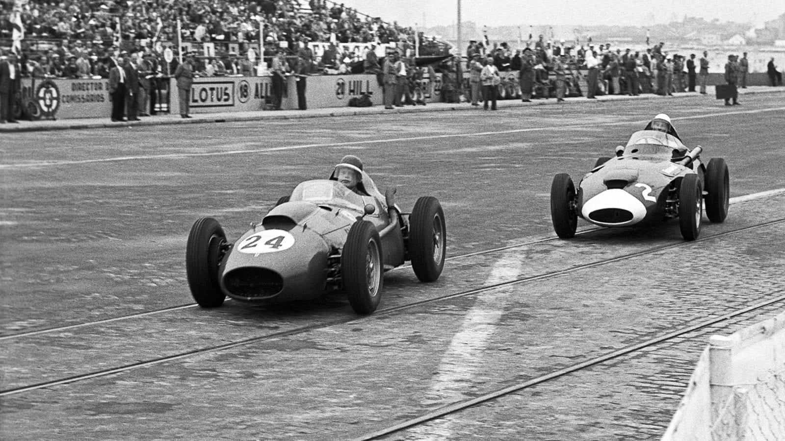 1958 Portuguese Grand Prix Hawthorn and Moss