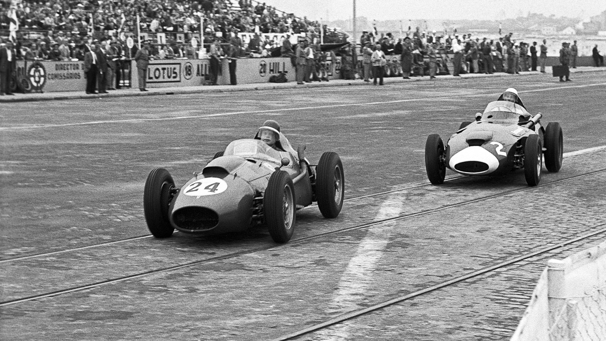 1958 Portuguese Grand Prix Hawthorn and Moss