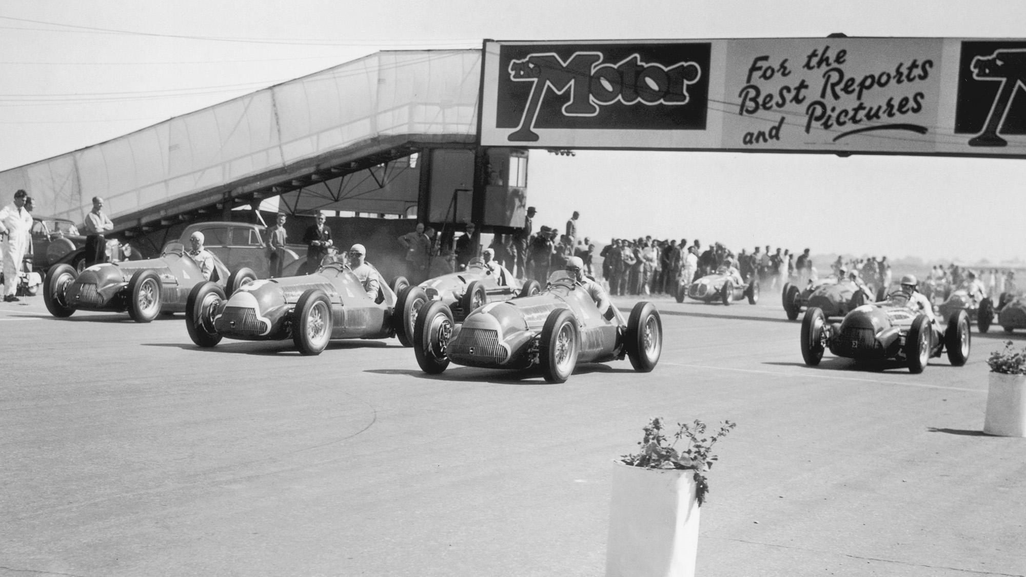 1950 British Grand Prix start