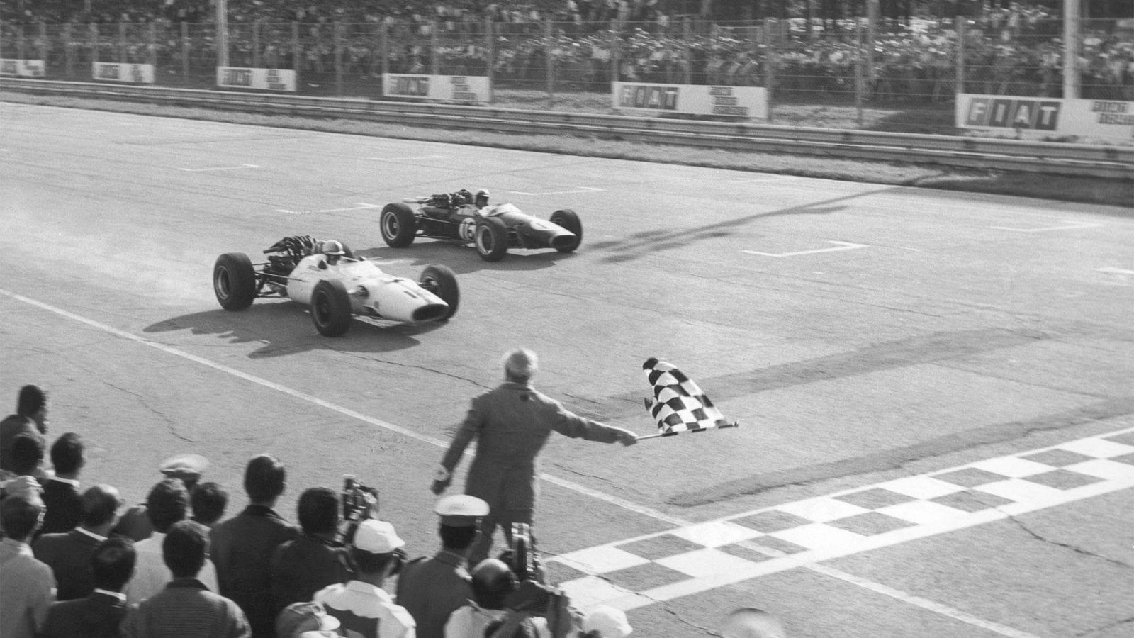 1967 Italian Grand Prix John Surtees and Jack Brabham
